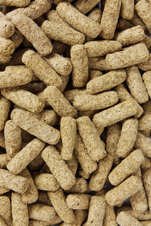 Pet food pellets photo