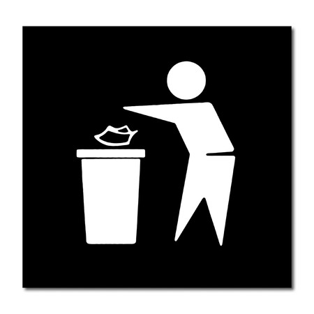commercial recycling: Trash bin sign