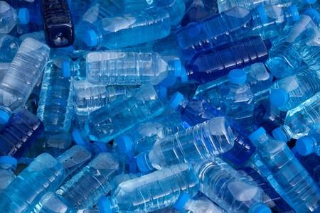 Pile of fresh water bottles