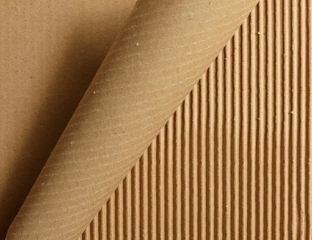 karton: Curl trakcie obierania tektury