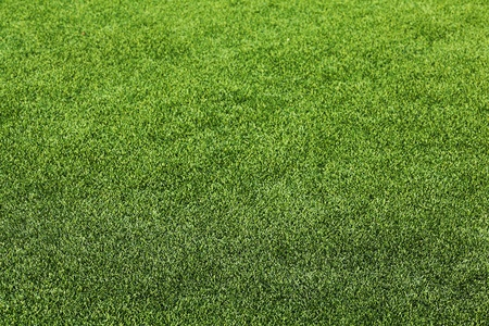 depth of field: Artificial Grass Field Perspective View Shallow Depth of Field Stock Photo