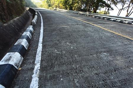 steep: Curve Concrete Steep Road