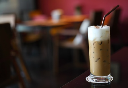 Ice Coffee In The Table