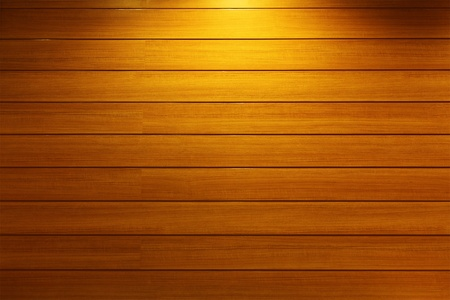 Wood Strip Wall With Light Spot Stock Photo