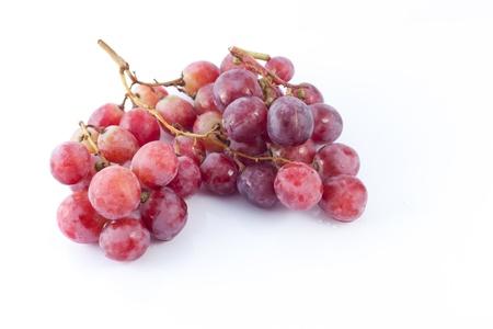 Bunch of Fresh Grape Fruit isolated on White Background photo