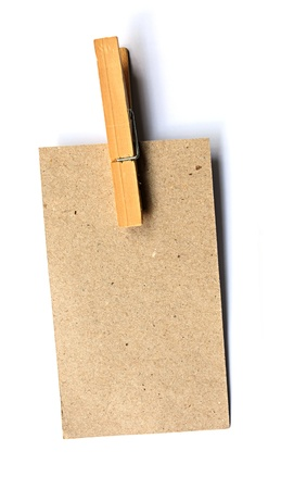 Brown Paper Wood Clip Stock Photo - 8473494
