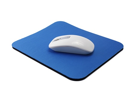 Wireless Mouse on Pad photo
