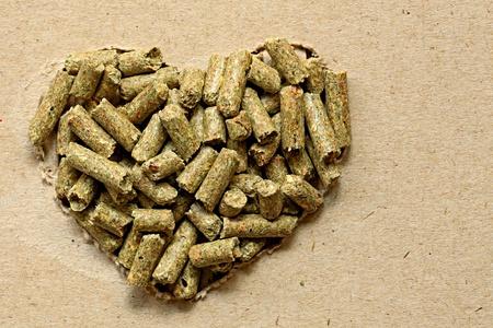 Pet Food, bunny pellets heart shape photo