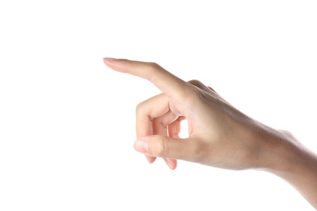finger pointing: Female Hand Pointing Selection