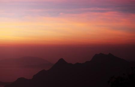 Mountain and Dawn Sky photo