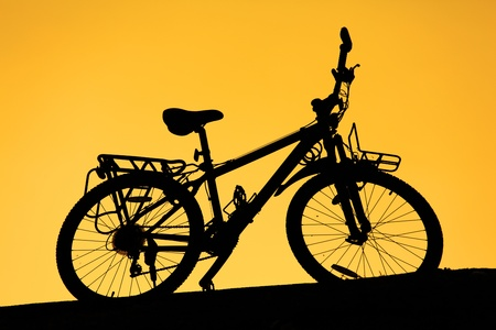 Bicycle Silhouette Sunset photo
