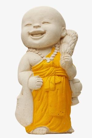 buddhist monk: Child Monk Statue