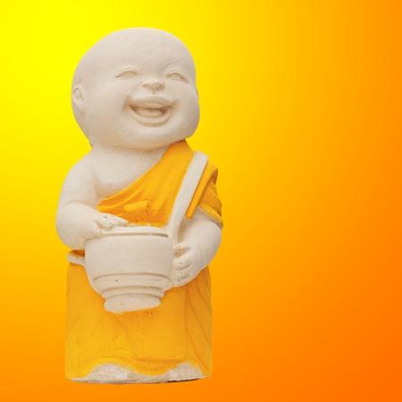 smiling buddha: Child Monk Statue