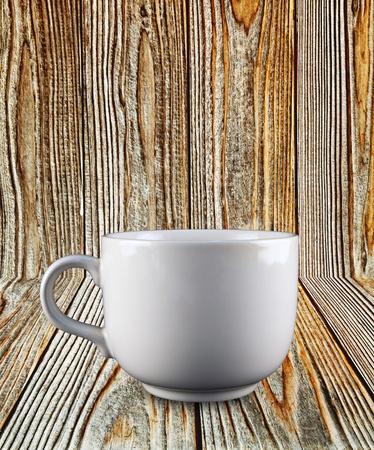 Coffee Glass On Wood Plank photo