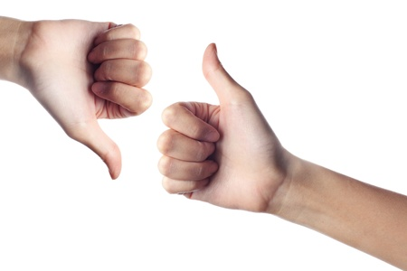 Thumb Up Down Stock Photo - 9157124