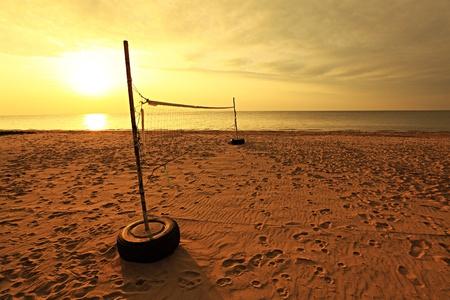 Beach Volleyball Field Imagens