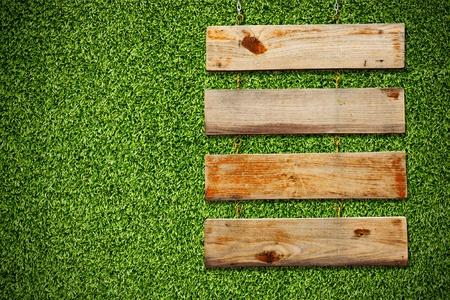 Wood Plank Sign Stock Photo - 9314956