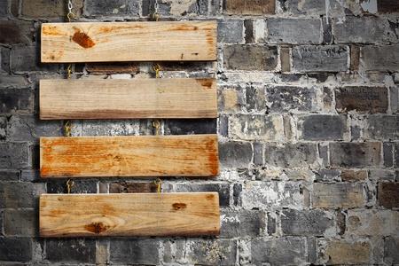 Wood Plank Sign photo
