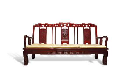 Chinese Wooden Chair Stock Photo