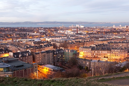 Edinburgh city view from Calton hill photo