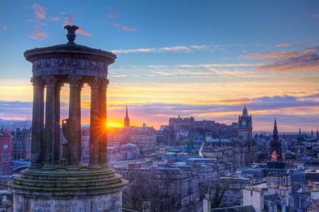 Scotland Edinburgh Calton Hill Stock Photo - 12818356