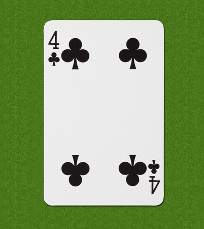 poker hand: Play Card Spade Four Stock Photo