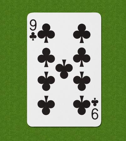 Play Card Club Nine Stock Photo - 13283059
