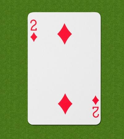 wager: Play Card Diamond Stock Photo
