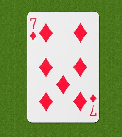 straight flush: Play Card Diamond Stock Photo