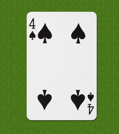hold'em: Play Card Spade Stock Photo
