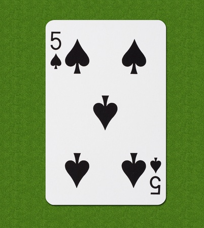 aces: Play Card Spade Stock Photo