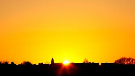 Warm sunset sky photo