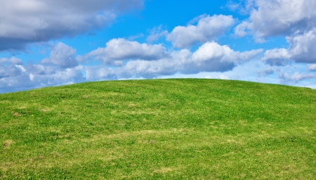 Greenery hill view Stock Photo - 15804474