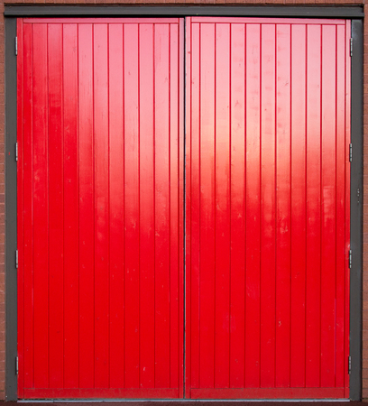 red door: Big red door Stock Photo