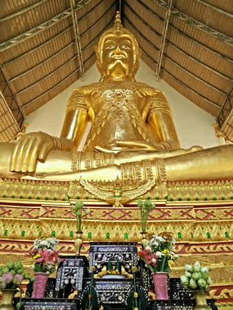 gold: Gold Buddha in Temple