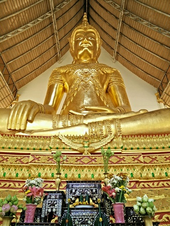 gold: Gold Buddha in Temple Thailand