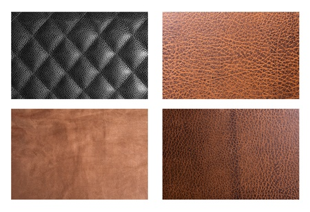 Set of leathers texture photo