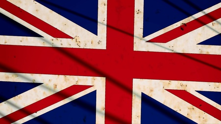 Vintage United Kingdom flag photo