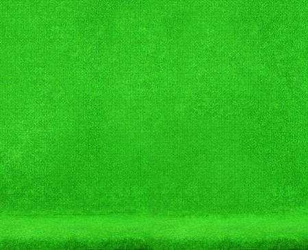 Green velvet chair texture Stock Photo