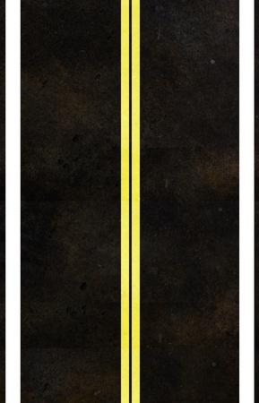 Asphalt road texture with yellow stripe Stock Photo - 13035070