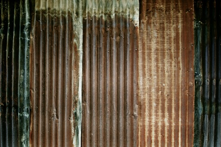 corrugated: Dirty zinc wall texture