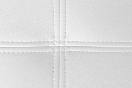 Natural white leather sewing texture photo