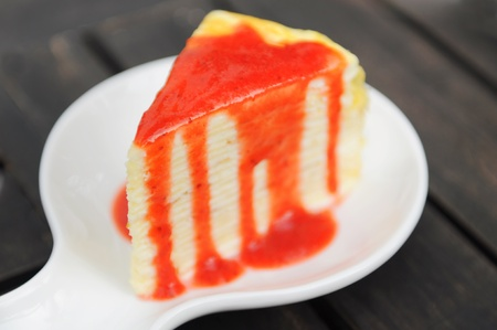 cheese cake strawberry  photo