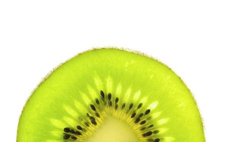 Close up on Kiwi fruit isolated on white background
