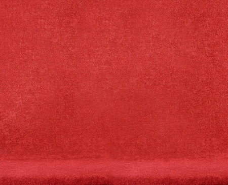 closeup on a red velvet chair photo