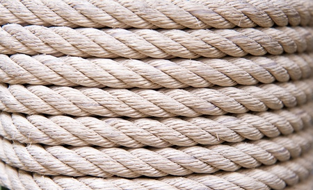 close up of white rope photo
