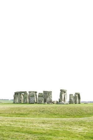 Stonehenge isolated on white background Stock Photo