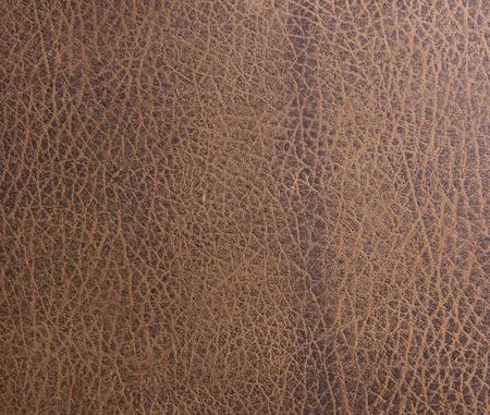 Brown leather texture closeup Stock Photo