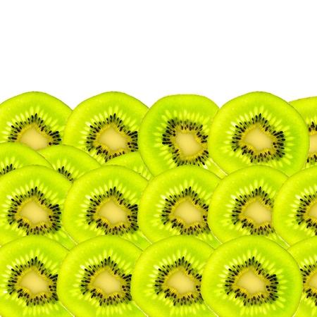 Kiwi fruit isolated white background
