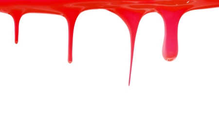Red paint dripping photo